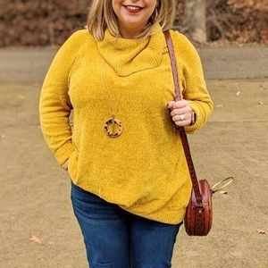 Cato • Mustard Yellow Chenille Sweater